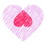 Abstract heart design Stock Photography
