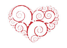 Abstract heart design vector. Isolated abstract ornament heart design vector Stock Photo