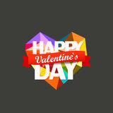 Abstract heart of different color figures. Happy Valentinea Day Royalty Free Stock Photos