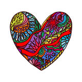Abstract heart of doodles Royalty Free Stock Image