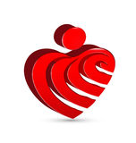Abstract heart figure design Royalty Free Stock Images