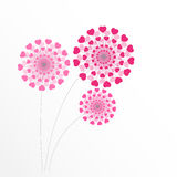 Abstract Heart Flower Background Vector Illustration Royalty Free Stock Photography
