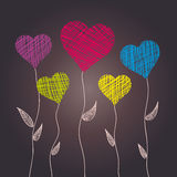 Abstract heart flowers Royalty Free Stock Photography
