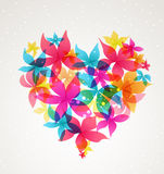 Abstract heart with flowers Royalty Free Stock Photography