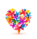 Abstract heart with flowers Stock Photography