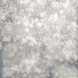 Abstract heart fprm bokeh background Royalty Free Stock Images