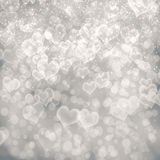 Abstract heart fprm bokeh background Stock Photo