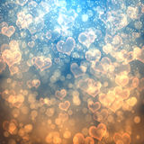Abstract heart fprm bokeh background Royalty Free Stock Photos