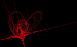 Abstract heart fractal. For valentine's day design Stock Photography