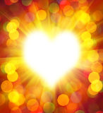 Abstract heart frame Royalty Free Stock Image