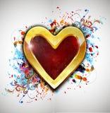 Abstract heart frame Stock Photos