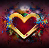 Abstract heart frame Stock Images