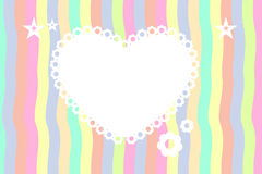 Abstract heart frame background Royalty Free Stock Photos