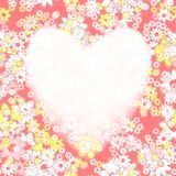 Abstract heart frame. Texture background. Stock Images