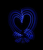 Abstract  heart, freezelight. Abstract  heart, obtained with a freezelight photographic style Royalty Free Stock Photos