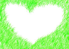Abstract heart green bright frame spring romantic mood Stock Images