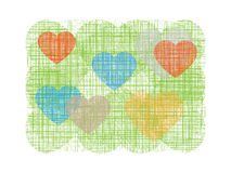 Abstract heart on green line background. Vector illustration Royalty Free Stock Image
