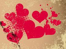 Abstract  heart with grunge design. Stock Photography