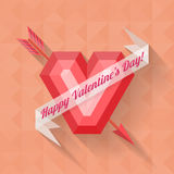 Abstract heart happy valentine banner Stock Photography
