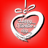 Abstract heart and Happy Valentine`s Day Royalty Free Stock Photo
