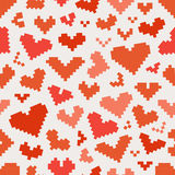 Abstract heart icons seamless pattern Stock Photography