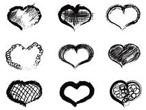 Abstract heart icons Stock Images