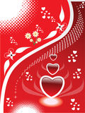 Abstract heart illustration. Abstract illustration of red hearts Stock Photo