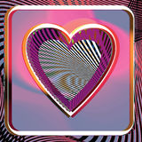 Abstract Heart illustration Royalty Free Stock Images