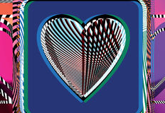 Abstract Heart illustration Stock Photo