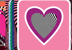 Abstract Heart illustration Stock Images