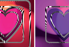 Abstract Heart illustration. Abstract colorful Heart vector illustration Stock Images