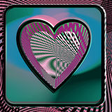 Abstract Heart illustration. Abstract colorful Heart vector illustration Stock Photo