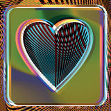 Abstract Heart illustration. Abstract colorful Heart vector illustration Stock Photos