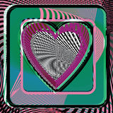Abstract Heart illustration. Abstract colorful Heart vector illustration Royalty Free Stock Photo