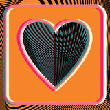 Abstract Heart illustration. Abstract colorful Heart vector illustration Stock Photography