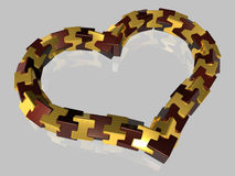 Abstract - Heart - isolated - 3D Royalty Free Stock Photos