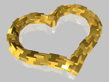 Abstract - Heart - isolated - 3D Stock Image