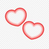 Abstract heart isolated on a transparent background. Design element for festive events. royalty free illustration