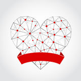 Abstract heart isolated on a white background. Vector Stock Images