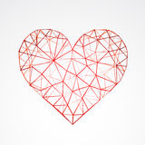 Abstract heart isolated on a white background. Vector Royalty Free Stock Photography