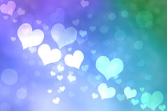 Abstract Heart Lights Background Royalty Free Stock Photos