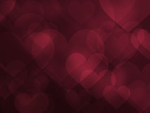 Abstract heart and love valentine background effect Stock Photo