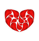 Abstract heart made ��of drops blood Royalty Free Stock Photography