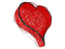 Abstract heart made with lines Royalty Free Stock Photography
