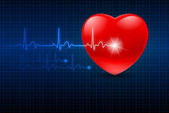 Abstract Heart Monitor Royalty Free Stock Photos