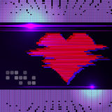 Abstract heart monitor on a dark background. Stock Photos