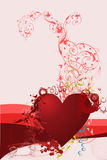 Abstract heart ornament Royalty Free Stock Images