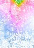 Abstract heart pink blue color bokeh wallpaper Stock Photography