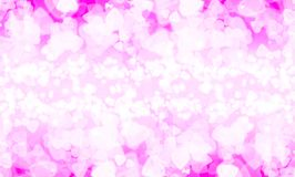 Abstract heart pink bokeh wallpaper Royalty Free Stock Photo