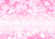 Abstract heart pink color bokeh wallpaper Stock Images